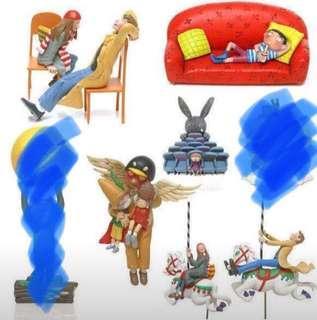 幾米 迷你人形系列2 月亮忘記了 絕版 懷舊 罕有 扭蛋 2003