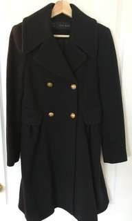 Zara women navy coat / jacket (size M)