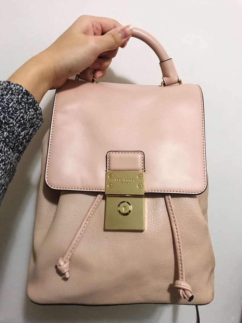 aacb4863fc 已絕版  Ted Baker Baby-pink Backpack