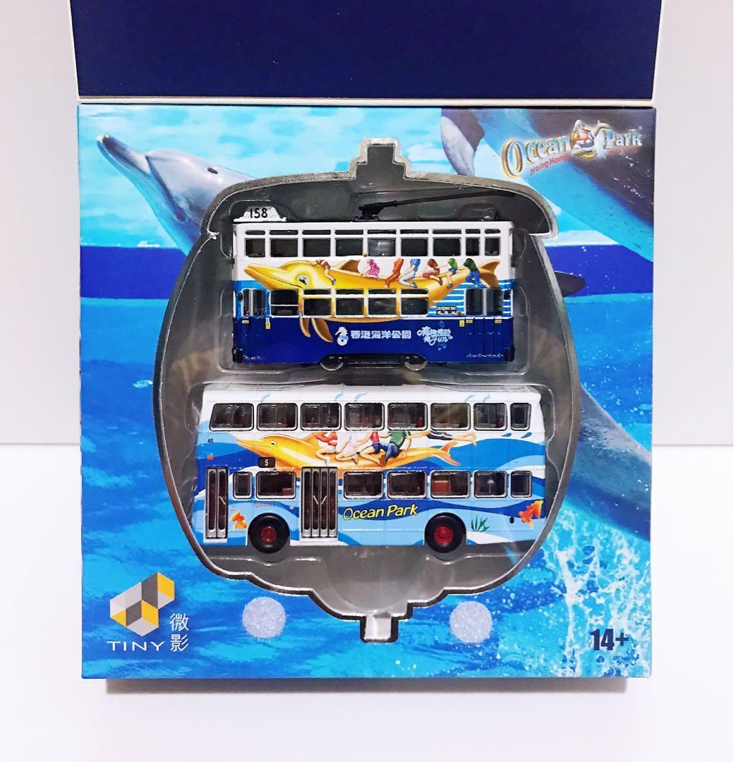 全新未拆 Tiny 微影 海洋公園 Ocean Park (勝利二型 巴士 + 電車) 套裝