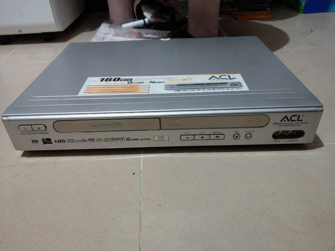 ACL 160GB Hard Disk, DVD±R/RW,CD-R/RW,DVD機