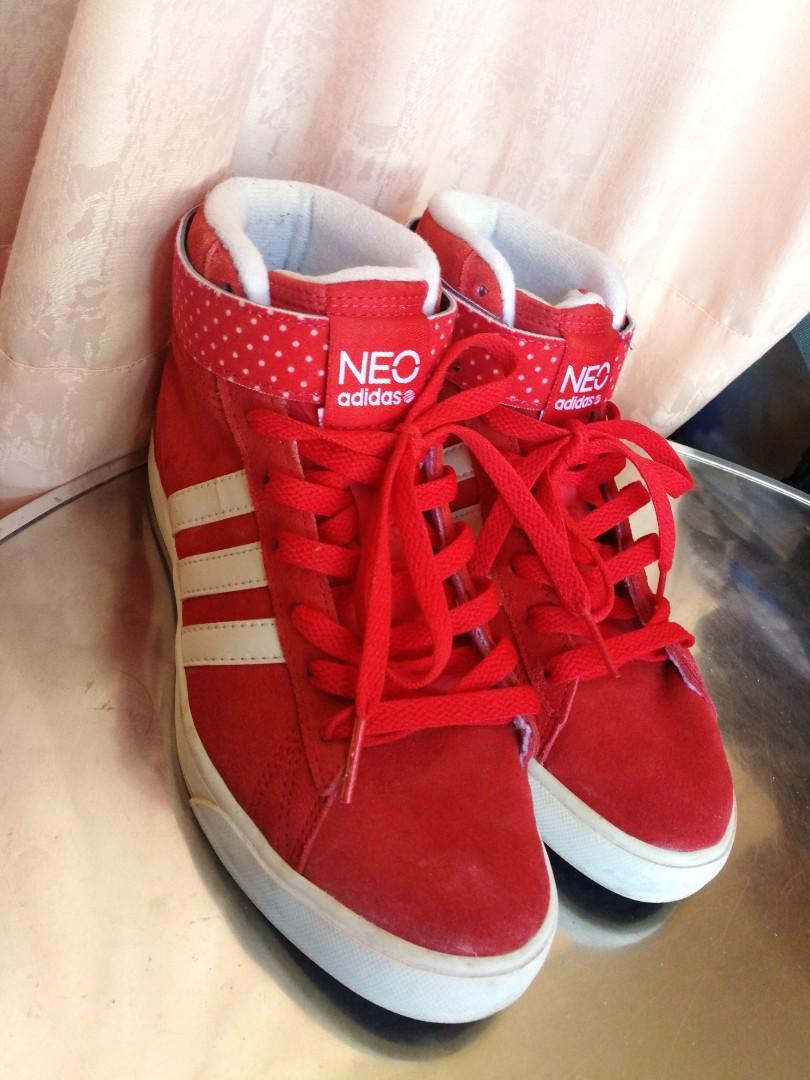 Adidas Neo Red High Cut, Women's