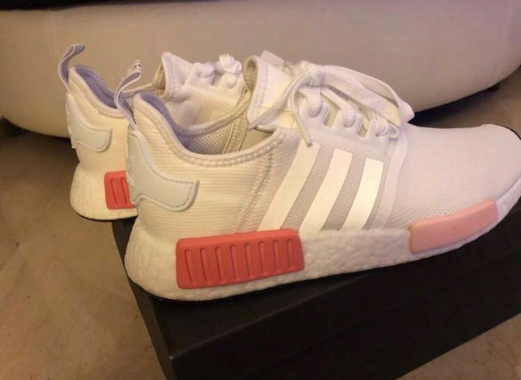 detailed look 5d637 b9d20 Adidas NMD R1   White   Icey Pink Rose Women, Women s Fashion, Shoes ...
