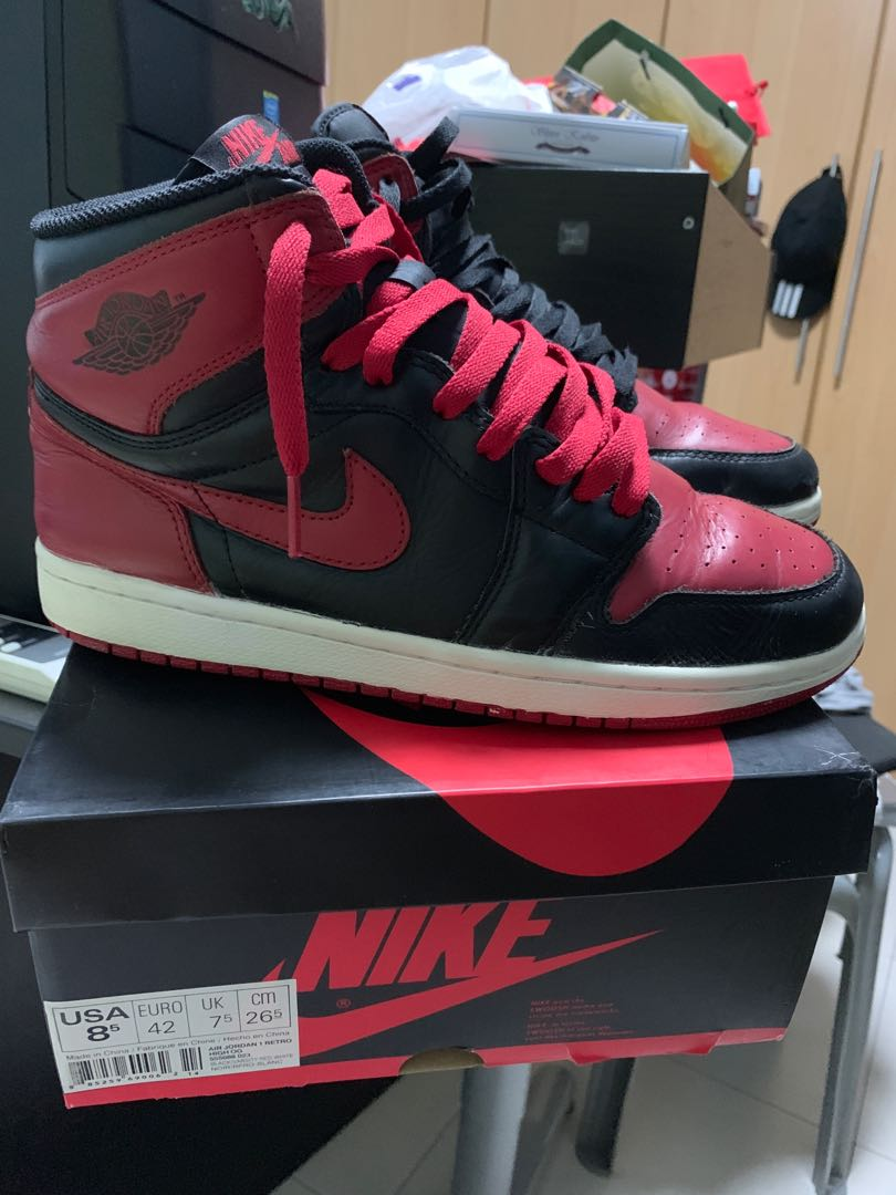 low priced 30b7d 68c8f Air Jordan 1 Bred 2013, Men s Fashion, Footwear, Sneakers on Carousell