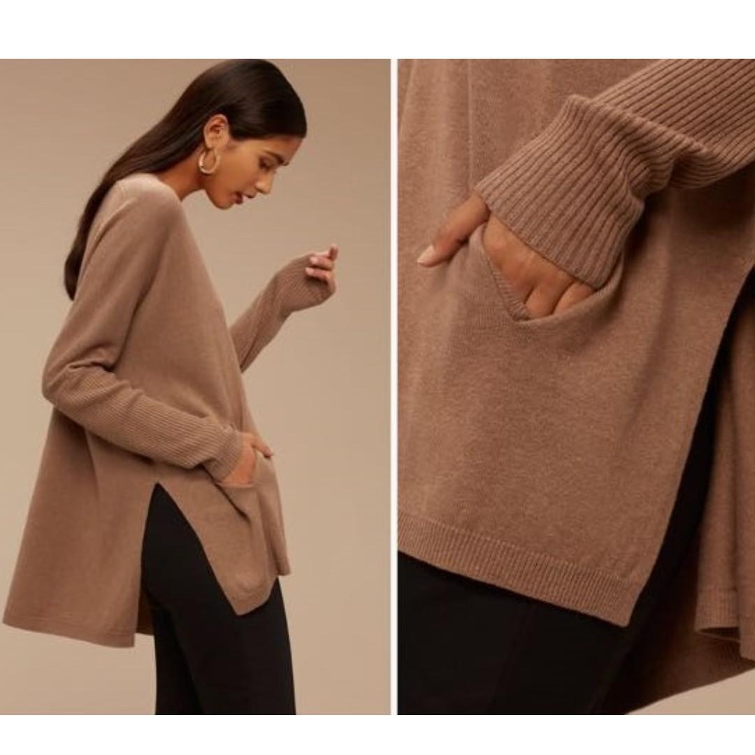 Aritzia Babaton Baylor Sweater Camel Small S