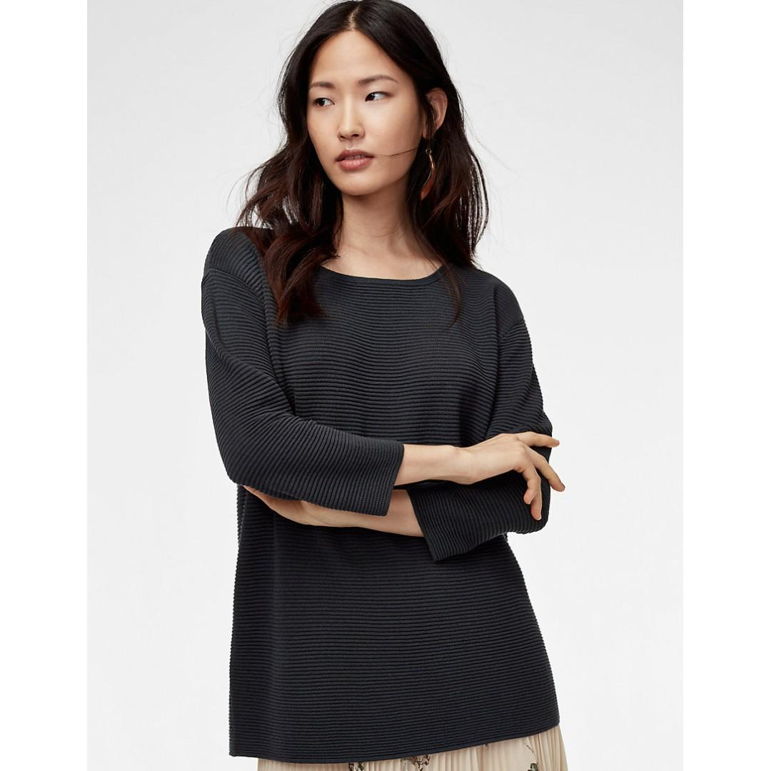 Aritzia Wilfred Blanchard Sweater Charcoal XS