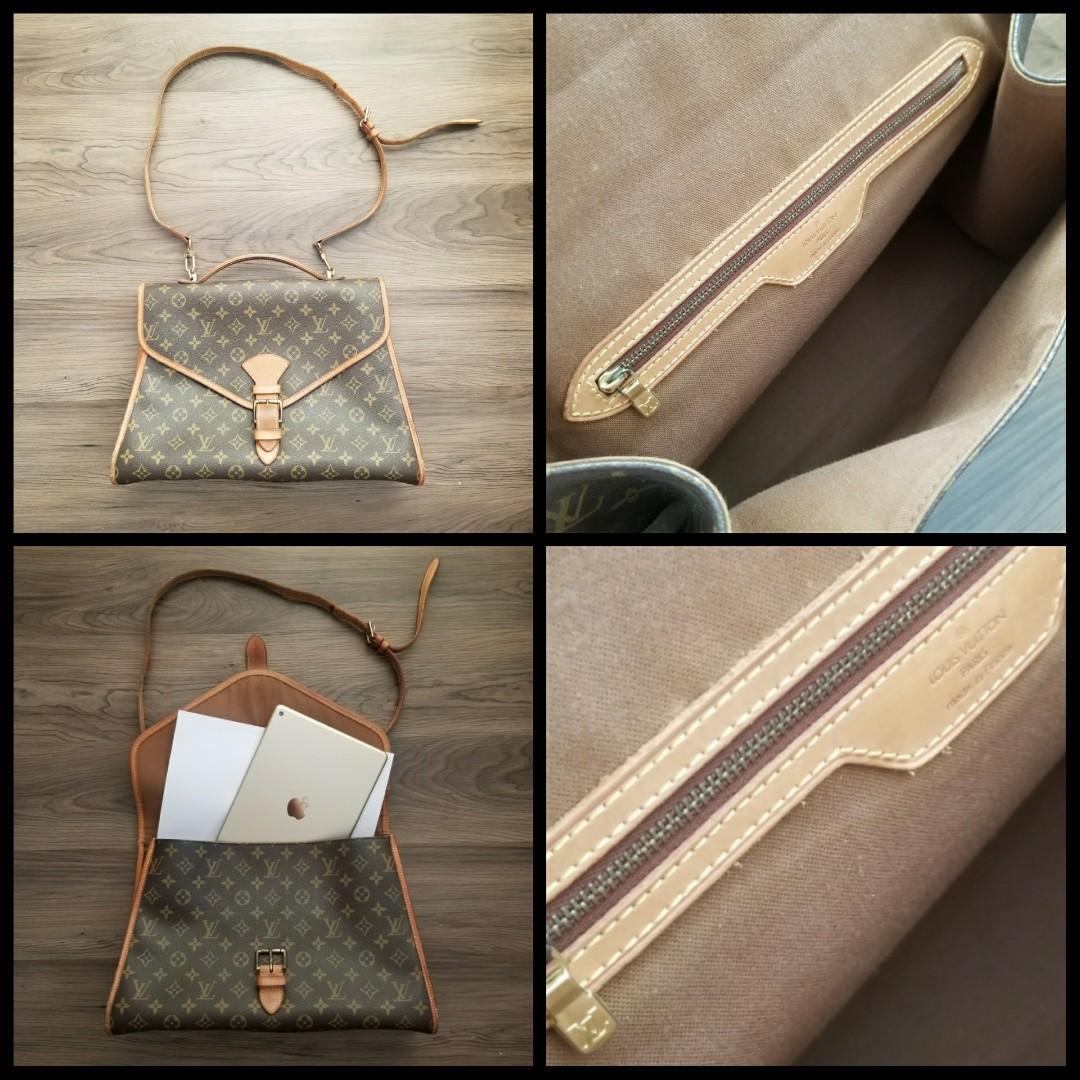 Authentic LOUIS VUITTON LV Monogram 2-Way Satchel Bag 袋