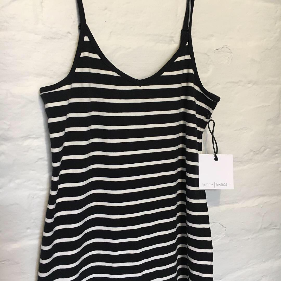 Betty Basics Midi Striped Dress | Brand New with Tags