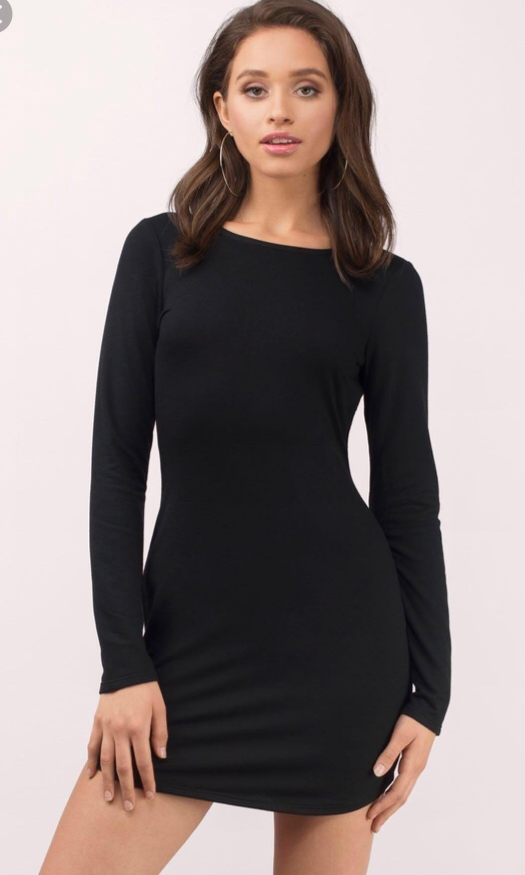 c0ee5687d1af black long sleeved bodycon dress – Little Black Dress | Black Lace ...