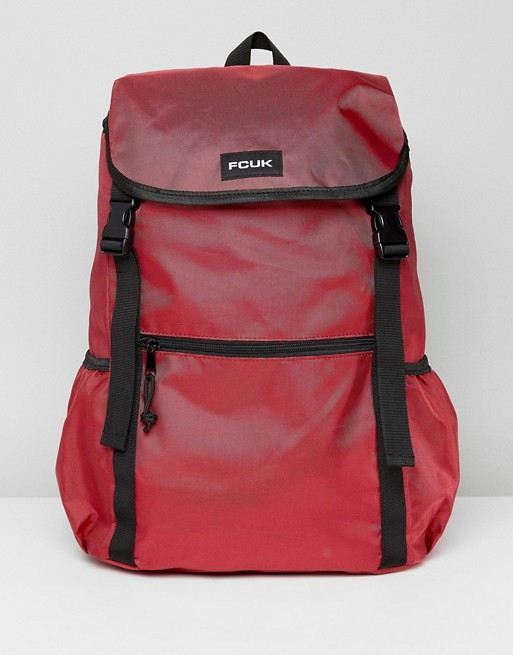 501fc37e5bf RTP: $120.43) French Connection Nylon Backpack in Burgundy Red and ...