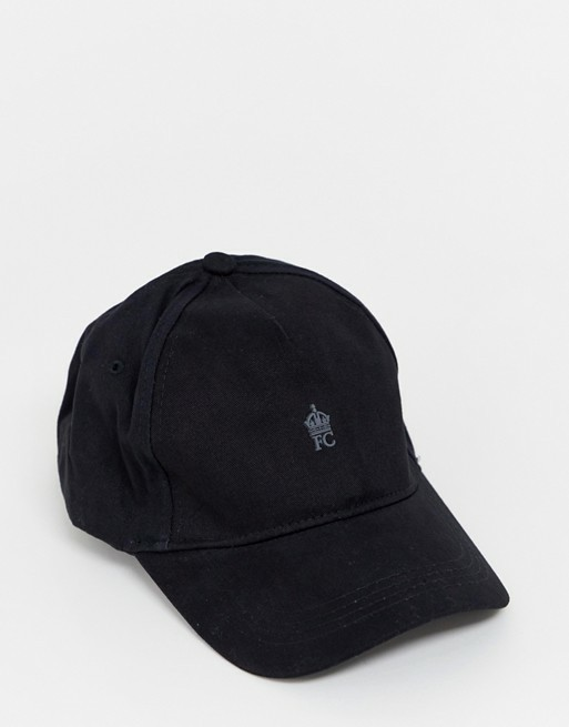 BNIP FCUK Sports Cap in Black   Charcoal    French Connection Hat ... b62ea83df9af