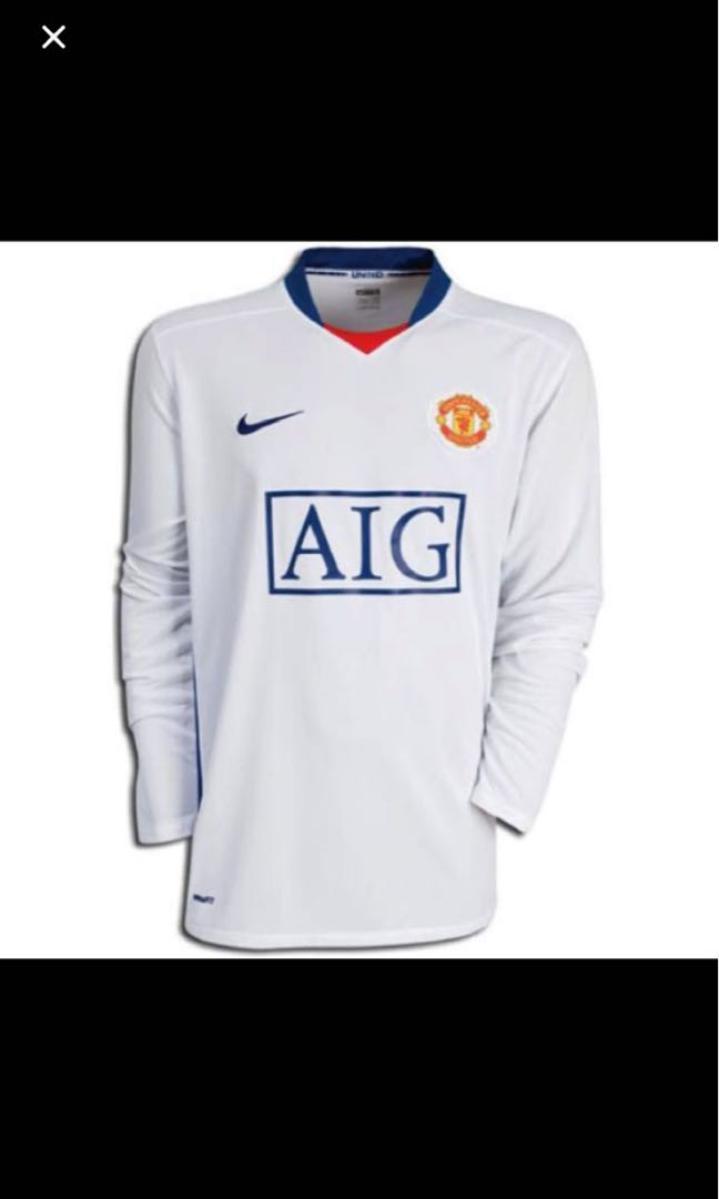 online store 208da bfbce BNWT Authentic Manchester United Away kit 2008-2009 size L ...