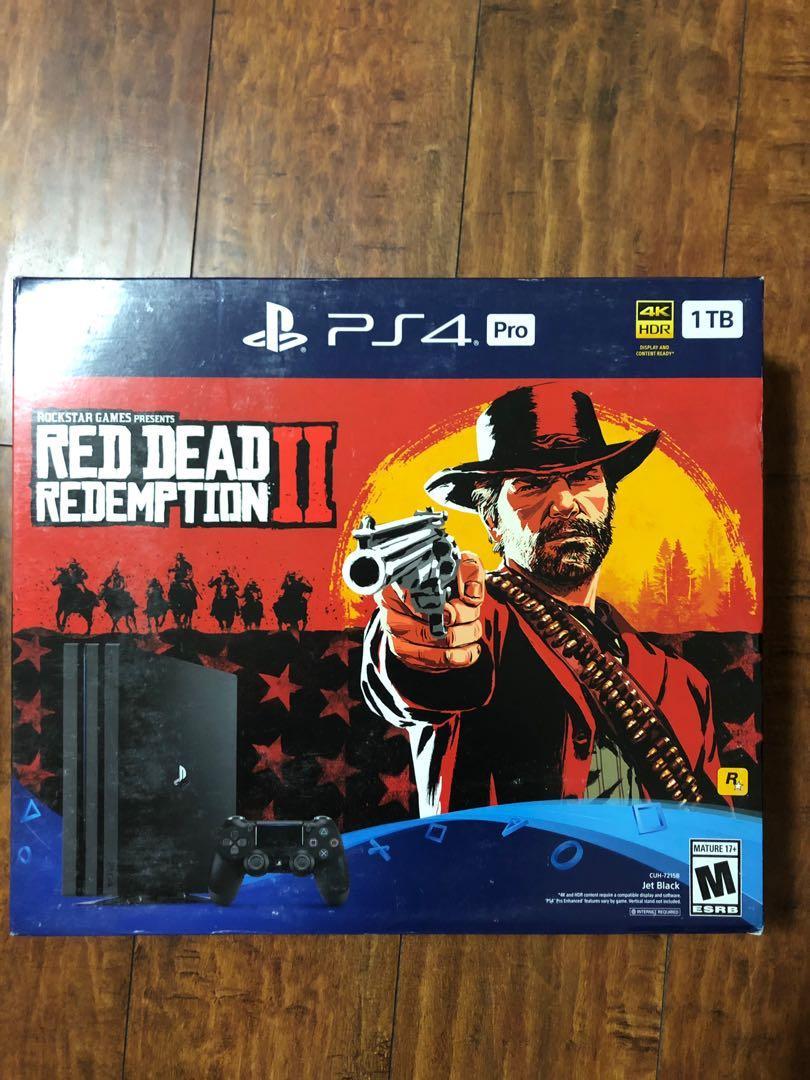 BRAND NEW SEALED PS4 1TB Red Dead Redemption II Bundle BNIB