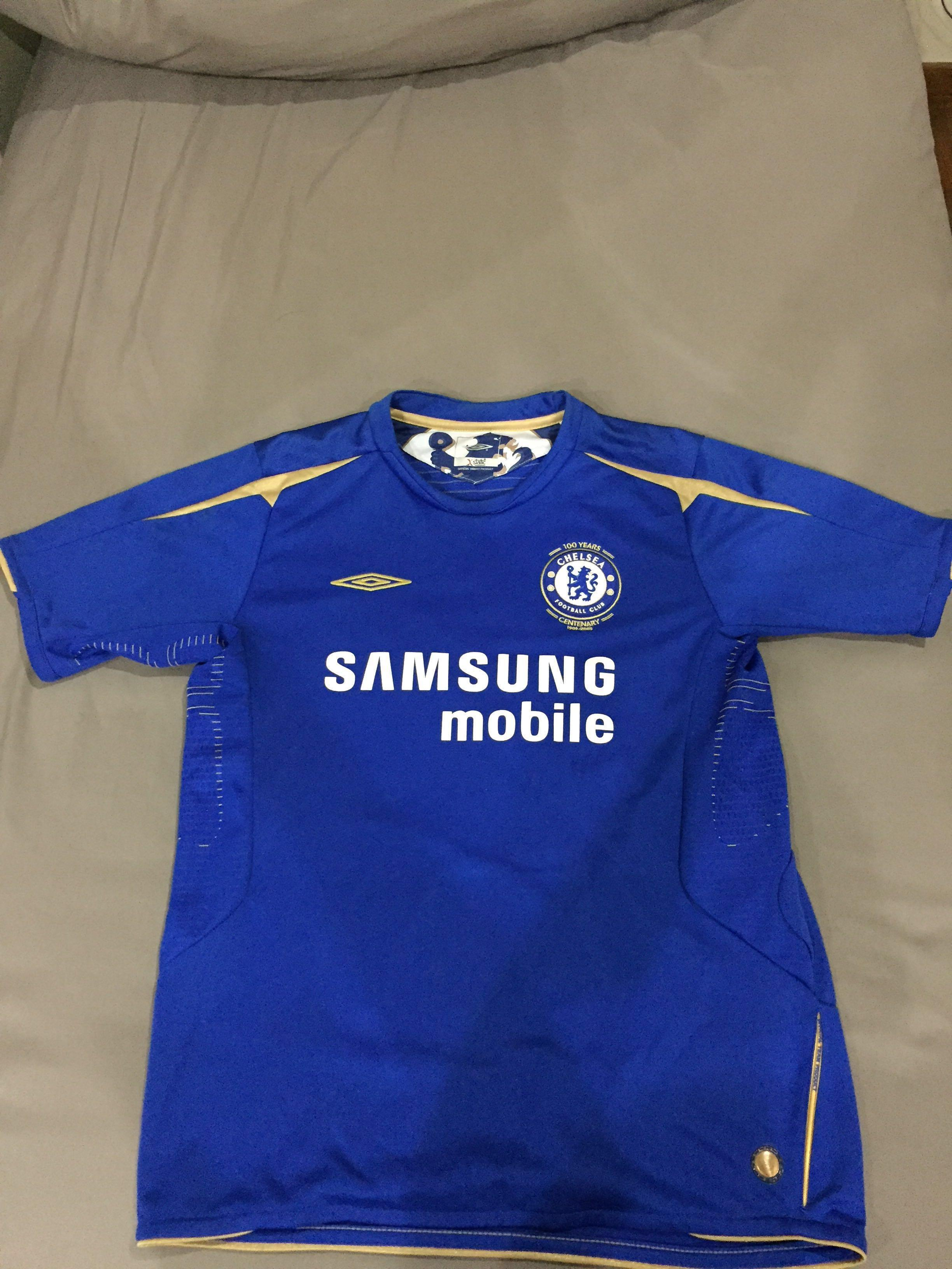 low priced 605fb e1c6d Chelsea Centenary shirt, Sports, Sports Apparel on Carousell