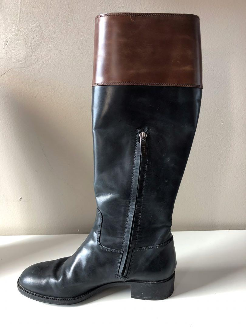 Classic Tod's Bi-Colour last leather knee-high boots