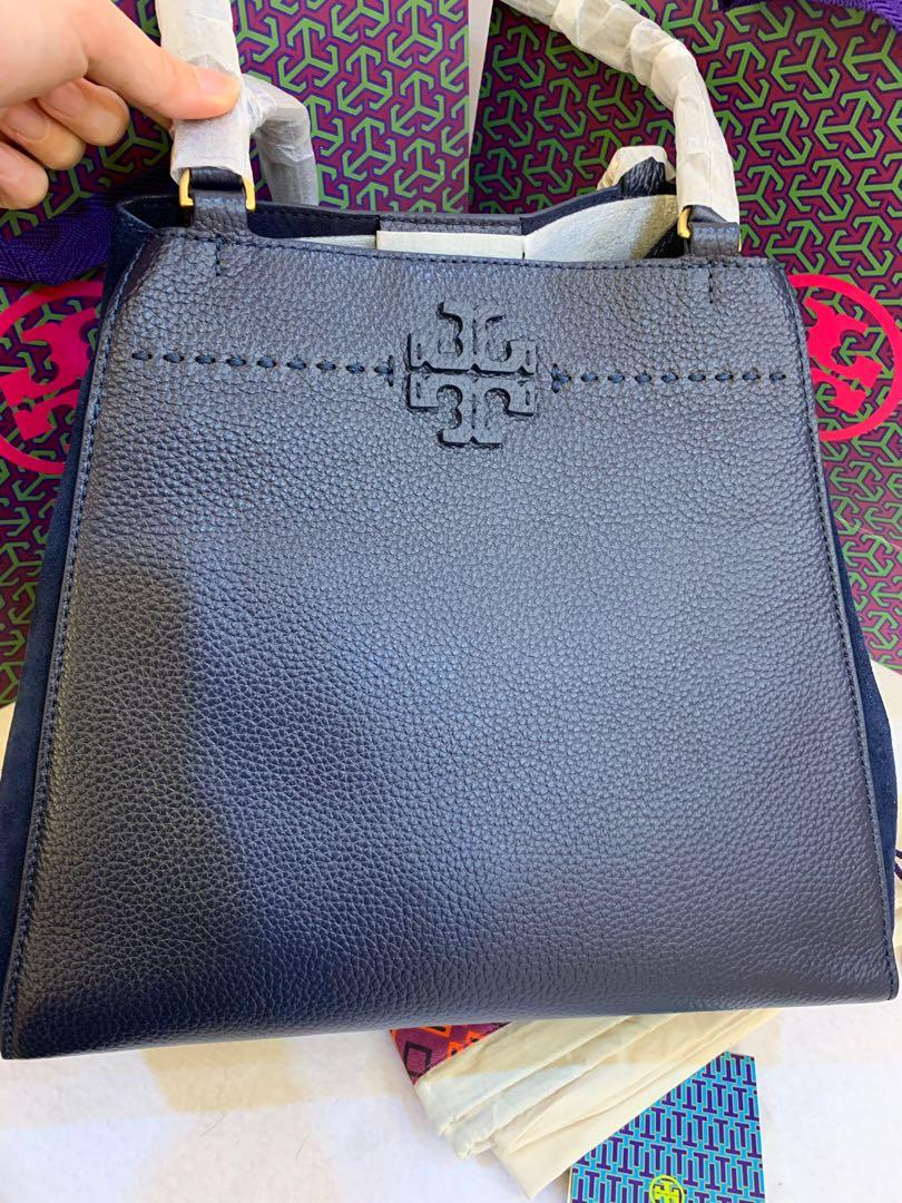 (CNY Clearance) Ready Stock Authentic Tory Burch carryall mixed material totes shoulder bag