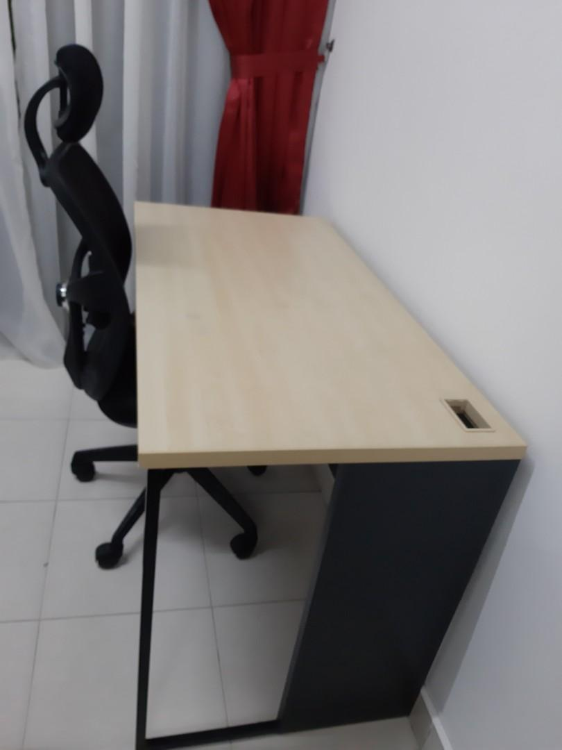 Computer Chair And Table Set Solid Wood Home Furniture