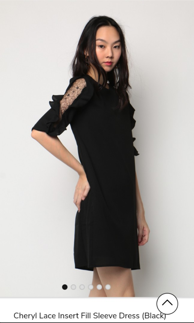 7b985537329 Dressabelle lace insert sleeve dress