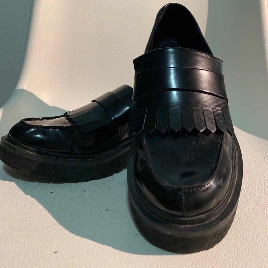 Faux Leather Shoes Sz 8W