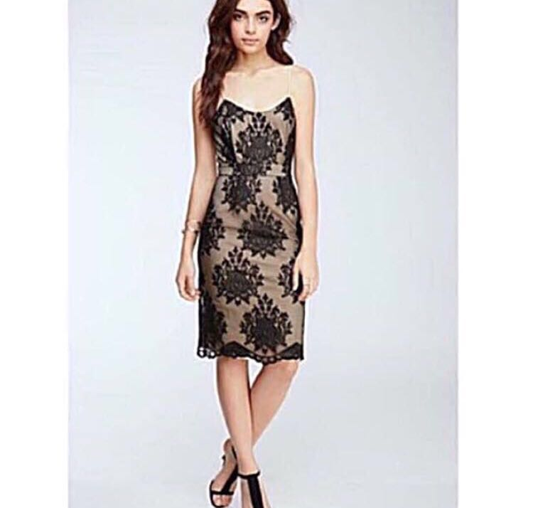 4bff69a25b Forever 21 F21 Black   Nude Lace Midi Dress Asos