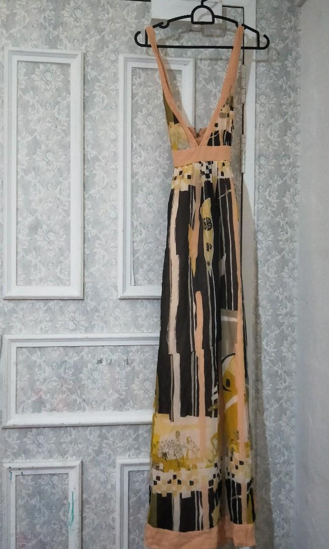 03e24dc4b6d French connection low back maxi dress, Women's Fashion, Clothes ...