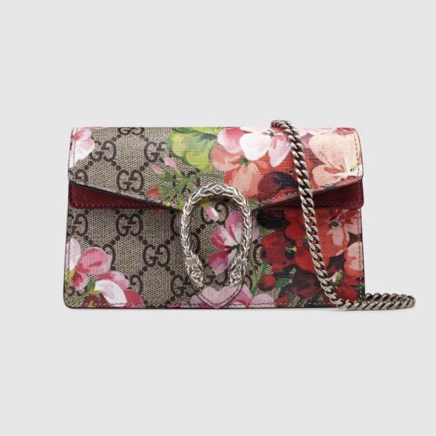 e2176ea620e9 Gucci Dionysus GG Blooms super mini bag, Luxury, Bags & Wallets ...