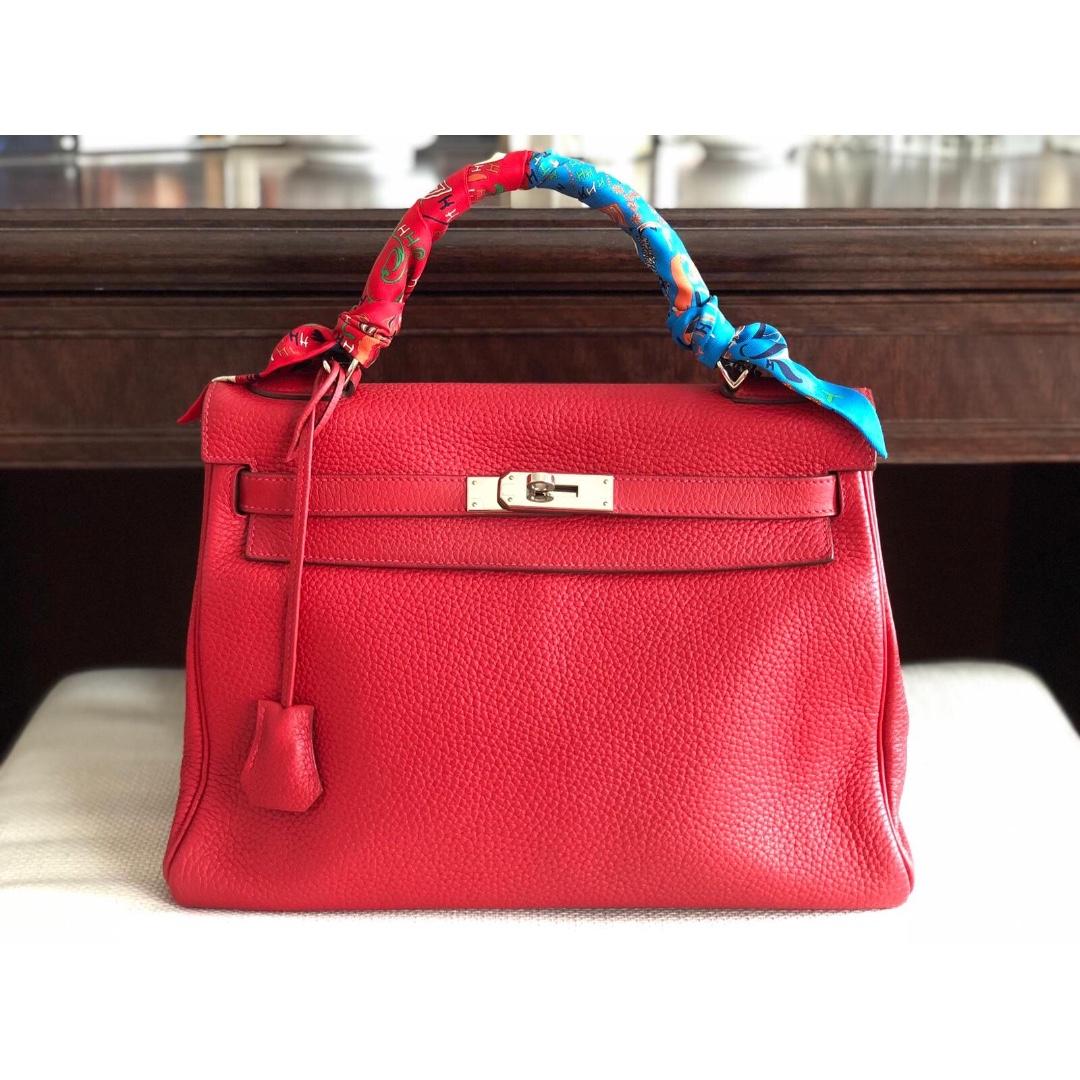 ef05b0574750 Hermès Kelly 32 Rouge Casaque