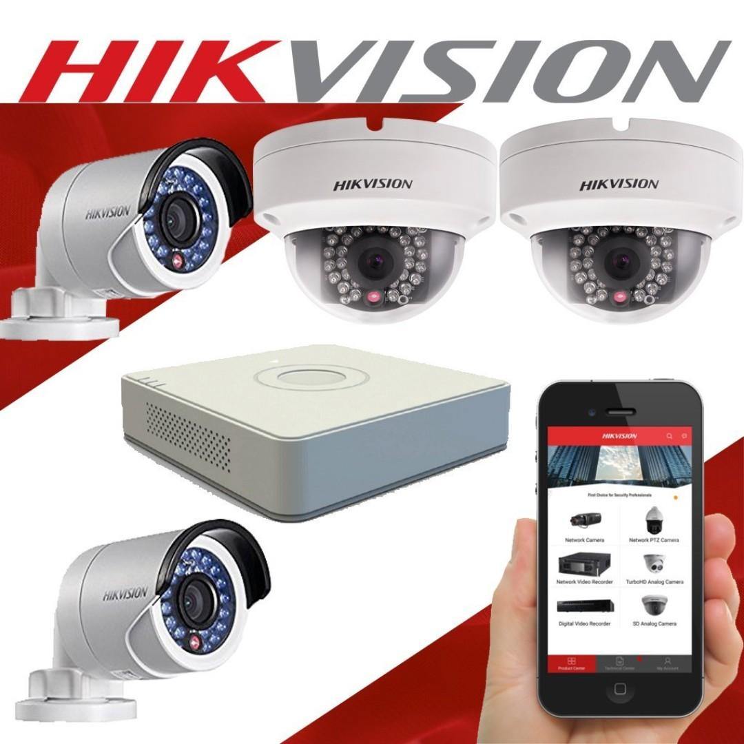 HIK Vision 4Channel CCTV Set 1080p 1.0MP Turbo HD Promosi 2019