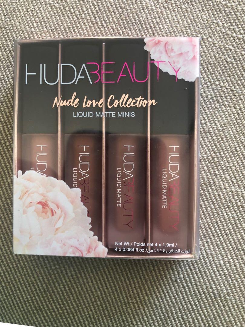Huda Beauty Mini Liquid Lipstick The Nude Love Edition Matte Lip