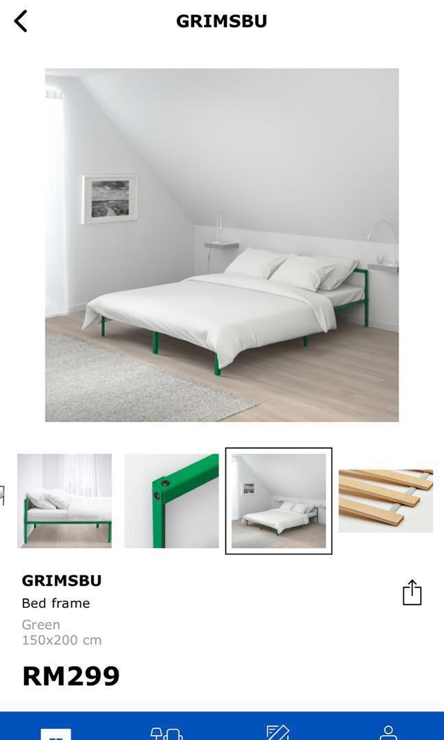 2cc8adc991fe Ikea Queen Bed  GRIMSBU  on Carousell