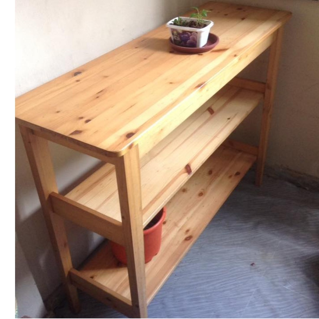 Sold Ikea Svalbo Shelving Console Table Furniture Shelves Drawers On Carousell