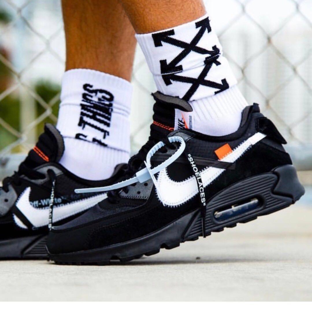 buy popular 82f76 e49d9 Nike Air Max 90 x Off White Airmax Black, Women's Fashion ...
