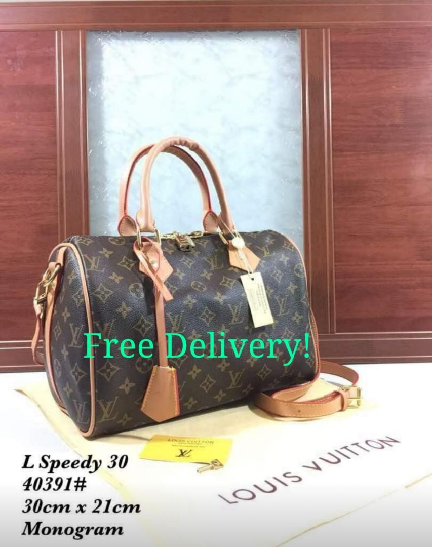 b6aeab3023f9 (Instock) Louis Vuitton Monogram Handbag Designer Luxury Brand Women Ladies  Fashion