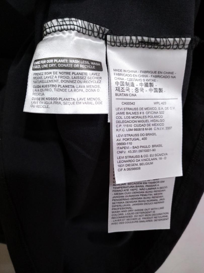Levi's 男生M碼短袖上衣純棉T恤黑色百搭陳偉霆同款附袋子