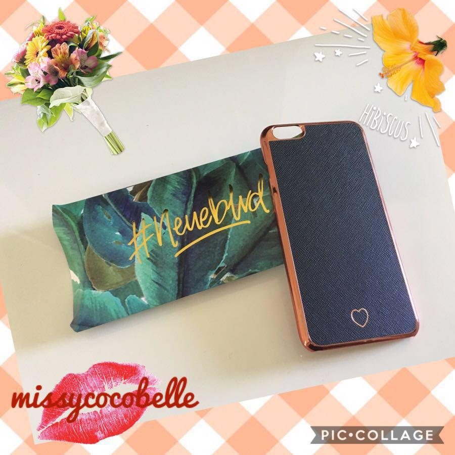 Never used* Black/rose gold iPhone case