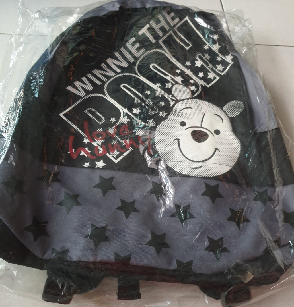 c140cede28b New. Winnie the Pooh black color backpack or school bag with big ...