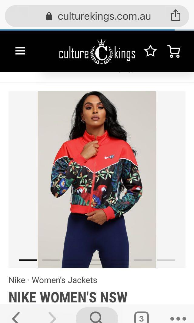NIKE - Ladies floral crop jacket - Size S - WORN ONCE for photo shoot - tag still on