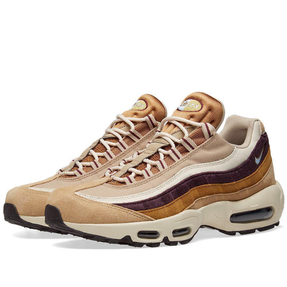 the latest 74b32 58d6d Nike Air Max 95 Premium Desert Royal Burgundy