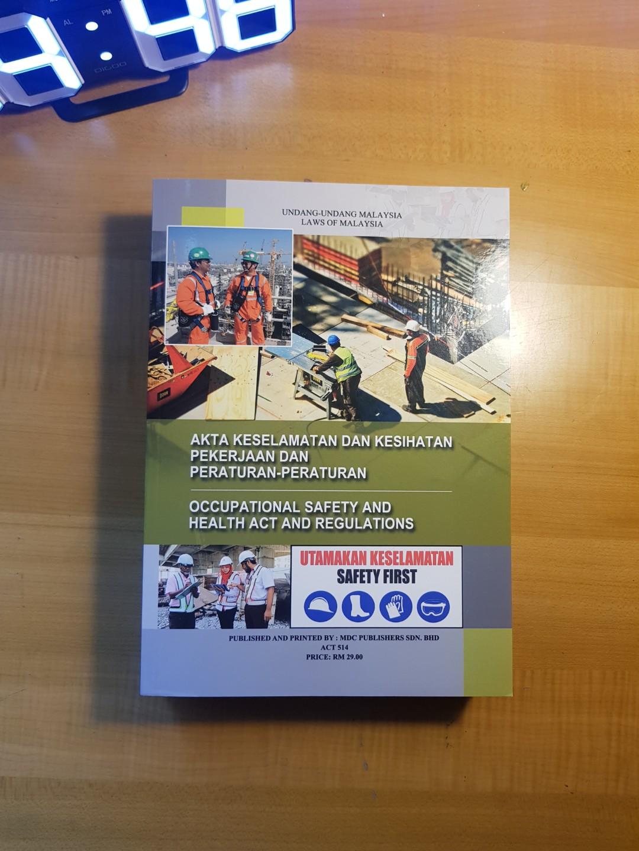 Osha Laws Book Akta Keselamatan Dan Kesihatan Pekerjaan Dan Peraturan Books Stationery Books On Carousell