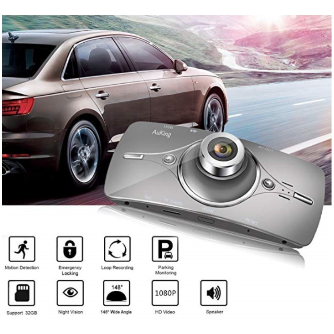 P15 Auking Dash Cam Full Hd 1080p In Car Camera Blackbox Dvr Dashboard With 2 7 Lcd Car Video Recorder Built In G Sensor With Automatic Loop