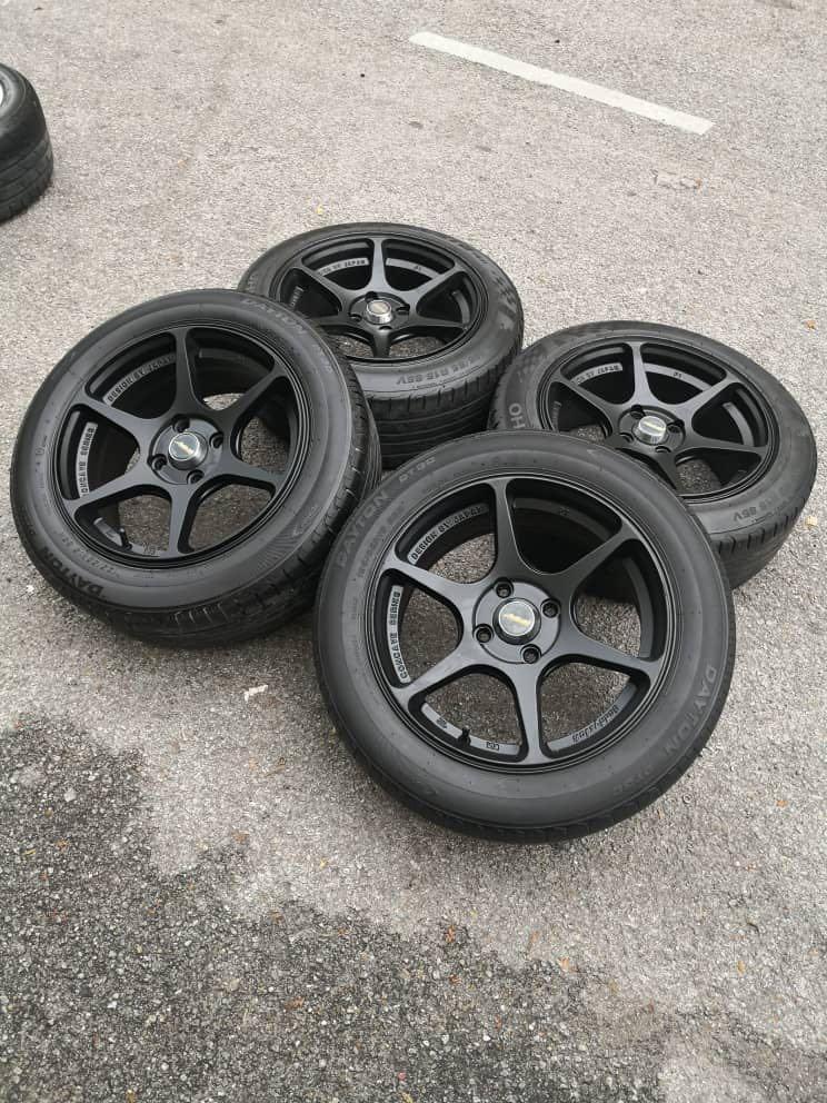 p1 buddy club 15 inch sports rim alza tyre 70%