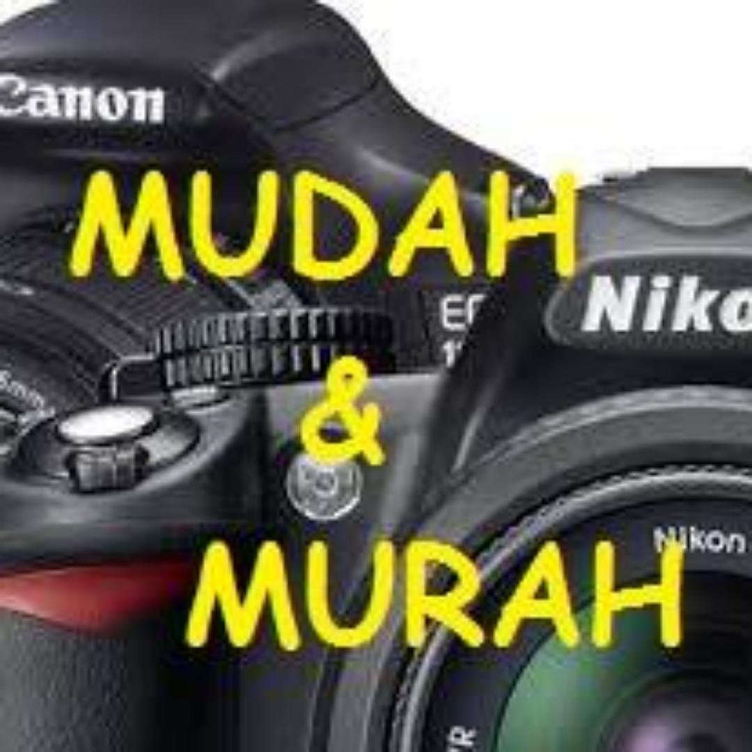 Perkhidmatan sewa kamera, walkie talkie, mesin dan peralatan event.