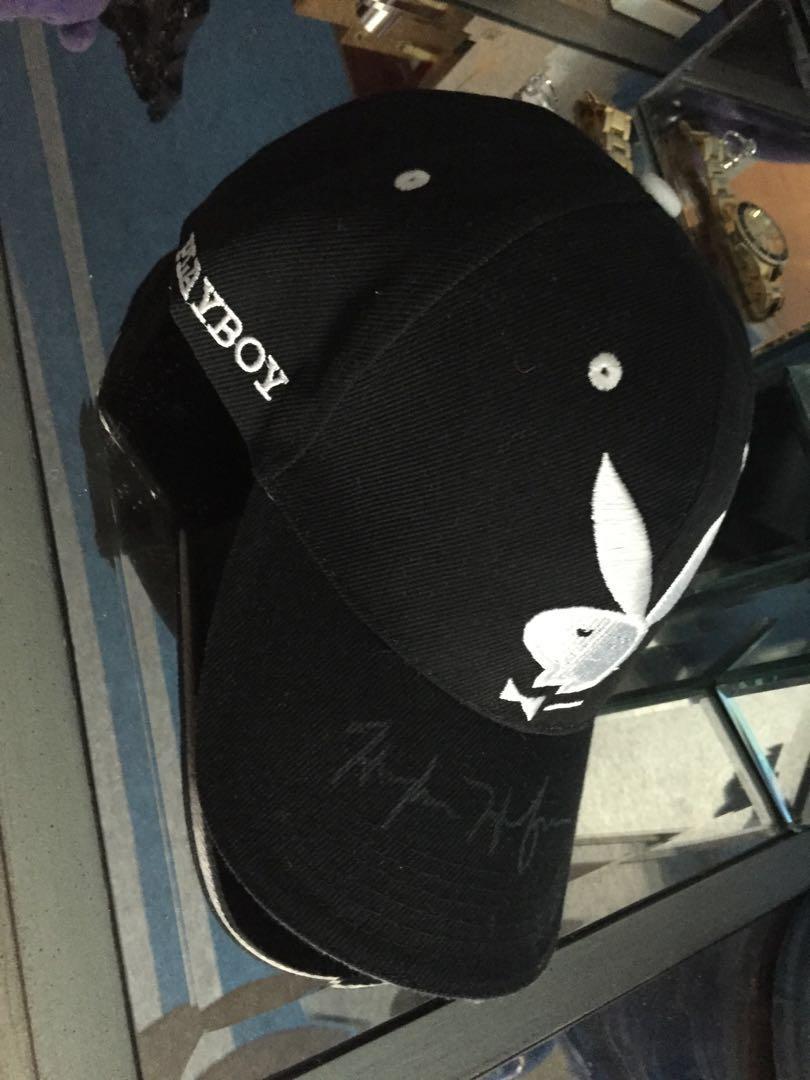 Playboy hat signed by HUGH HEFNER