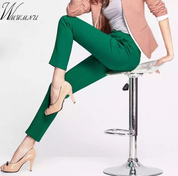 7a1bbffc6ae PO) S-4XL 2018 NEW women s casual OL office Pencil Trousers Girls s ...