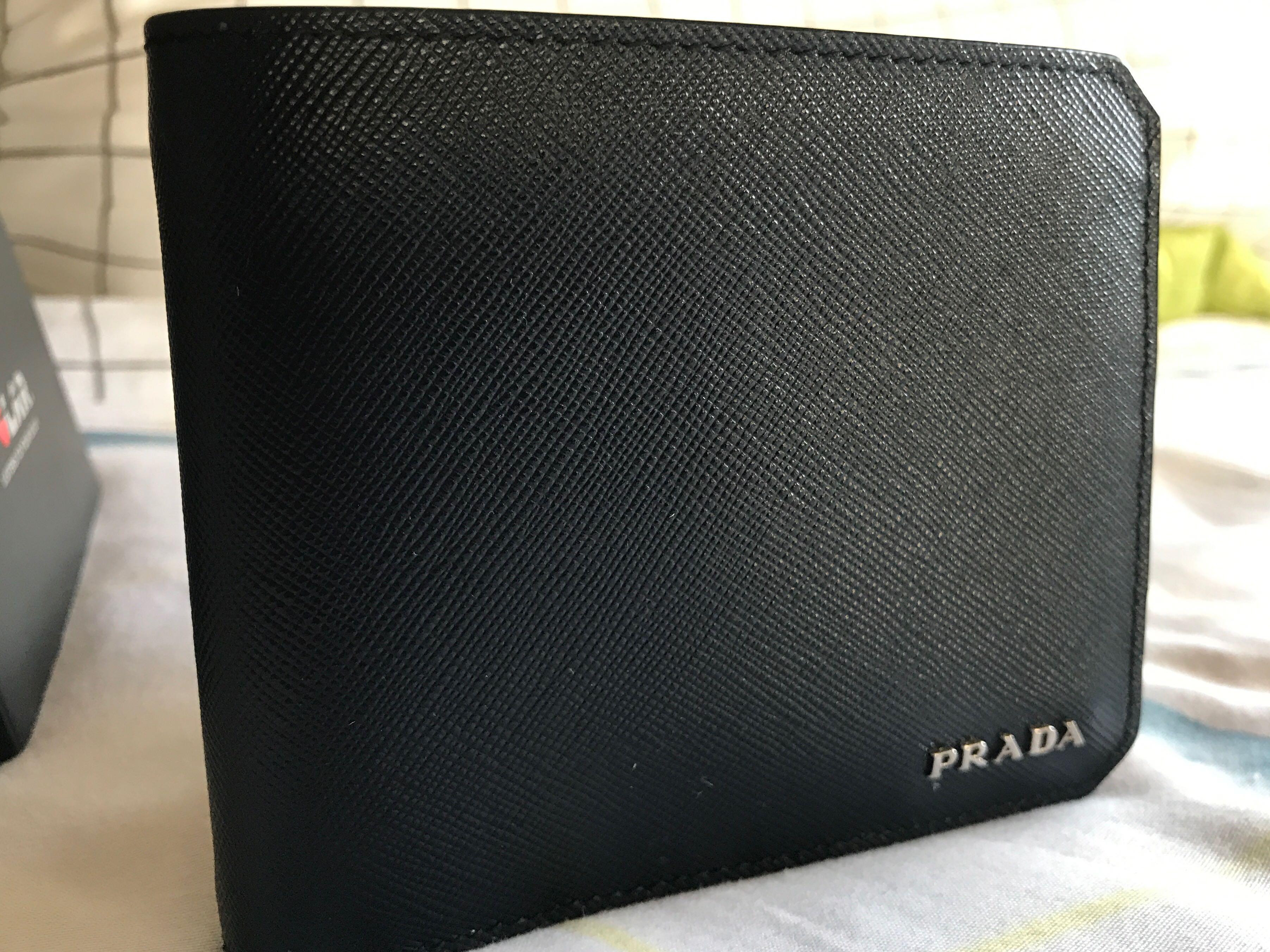 78462b0c3dd0 Prada men bi-fold wallet, Men's Fashion, Bags & Wallets, Wallets on ...