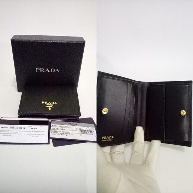 Prada wallet portaf verticale 1MV204 ghw 9 x 11.5 cm (bisa utk uang kertas)