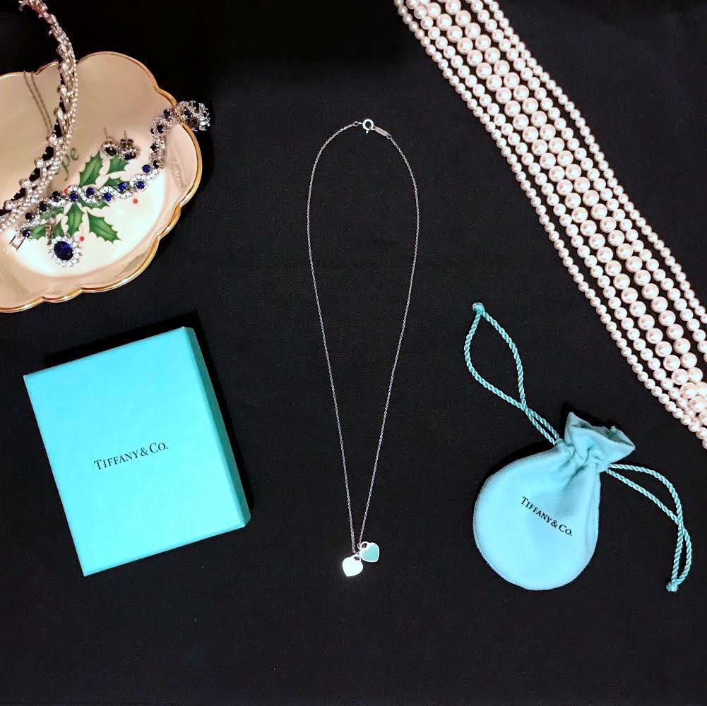 531878070 Pre-loved Tiffany & Co. Double Heart Tag Necklace | Return to ...