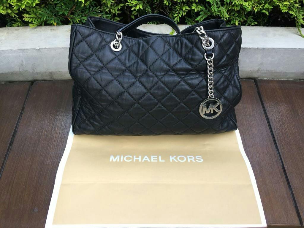fbea402de15bce Preloved VVGC Michael Kors 35H6SAHT3L Susannah Large Quilted Leather ...