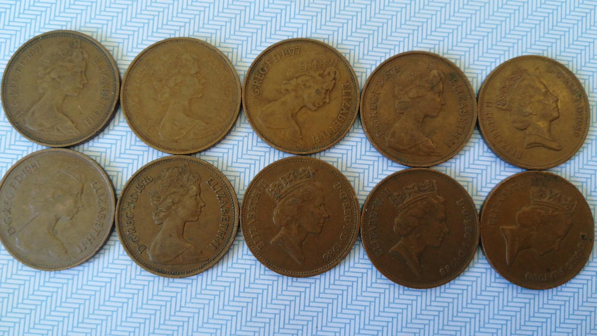 Rare old coins Queen Elizabeth, Antiques, Currency on Carousell
