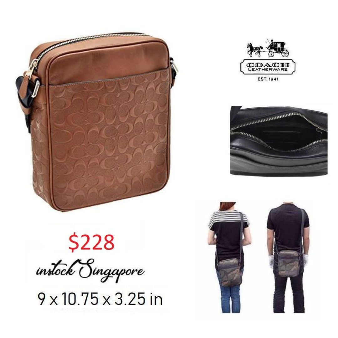 794e4aa134a2 READY STOCK authentic new Coach Men CHARLES FLIGHT BAG IN SIGNATURE ...